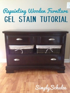 Painting Wooden Furniture Using Gel Stain