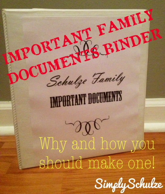 Important family documents binder why and how you should for Important family documents binder