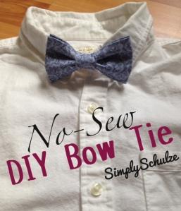DIY No-Sew Bow Tie