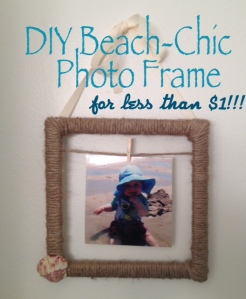 Easy DIY Nautical Frame - Made For Under $1!!!