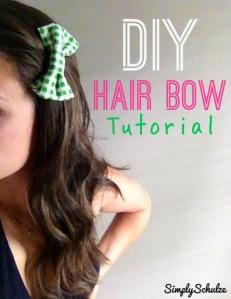 "DIY ""Little Lady"" Hair Bows"