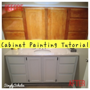 Bathroom Vanity Makeover - Cabinet Painting Tutorial