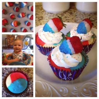 So as I put it on Insta - If you've got the time and your squishy baby don't mind ... get yo patriotic cupcake on!!!