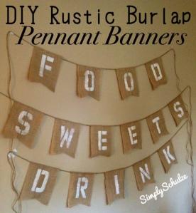 DIY Rustic Burlap Pennant Banners