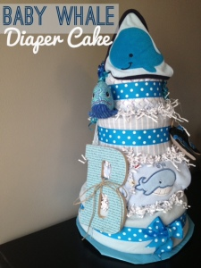 """Whale-of-a-Time"" Diaper Cake"