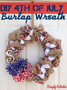 DIY 4th of July Burlap Wreath