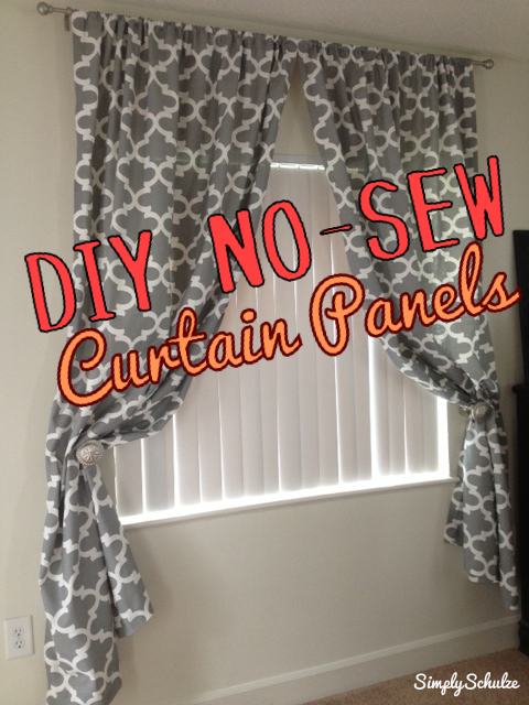 ... Hot Outside To Work On Any Of My DIY Projects In The Garage, Iu0027ll Take  This Time To Share One Of My Recent DIY Decor Projects U2013 No Sew Curtain  Panels!