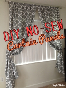 DIY No-Sew Curtain Panels