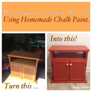 Microwave Stand Re-Do - Using Homemade Chalk Paint