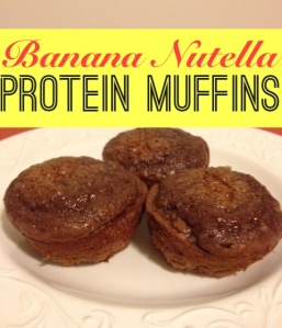 Banana Nutella Protein Muffins