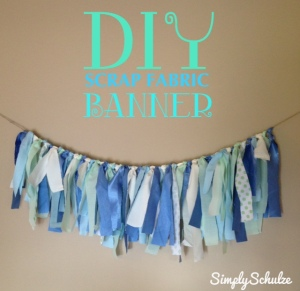 DIY  Scrap Fabric Banner