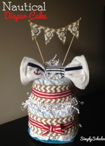 Nautical Mini-Diaper Cake