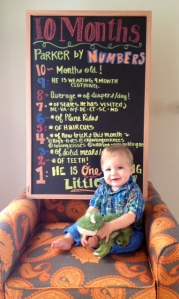 Documenting Baby P's First Year - Month 10