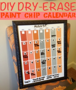 DIY Dry-Erase Paint Chip Calendar
