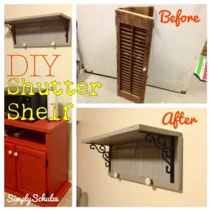DIY Shutter Shelf