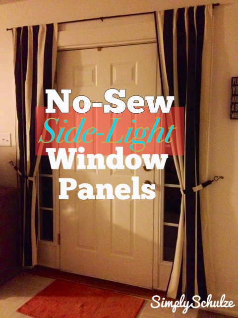 Curtains Ideas curtains for door sidelights : DIY No-Sew Side-Light Window Panels | simplyschulze
