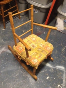 Baby Rocking Chair Re Do My First Re Upholstery Project