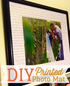DIY Printed Photo Mat