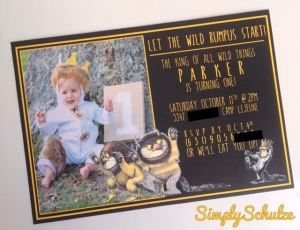 """Where the Wild Things Are"" Birthday Party Invitation"