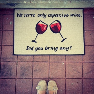 A picture of our new doormat - just for funsies :)