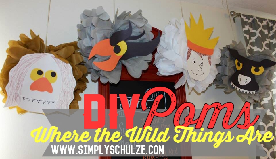 diy where the wild things are tissue paper character poms