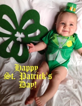 Flashback to St. Patty's Day last year - click on this picture to check out an adorable post about my little DIY St. Patty's Day photo with my little lucky charm <3