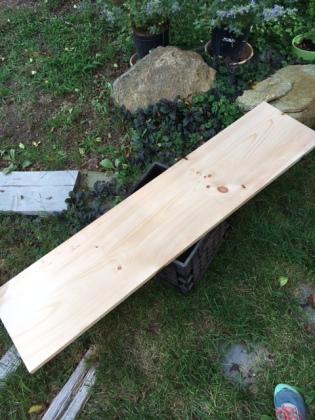 The original piece of wood (1'X4')